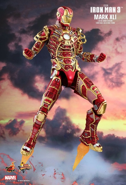 Hot Toys: Iron Man 3 - Iron Man Mark XLI (41) Bones Retro ...