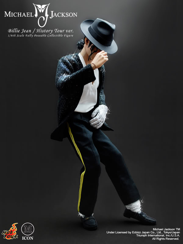 Hot toys michael jackson billie jean history tour version for Three jackson toy